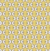 Lewis & Irene - Poodle & Doodle - 6362 - Retro Geometric in Mustard Yellow - A361.2 - Cotton Fabric